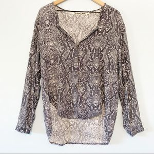 Michael Stars snake print loose tunic top M